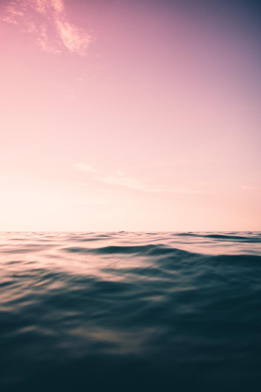purple skies and ocean