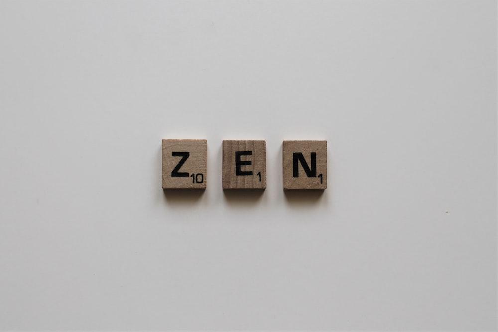 brown Zen decor