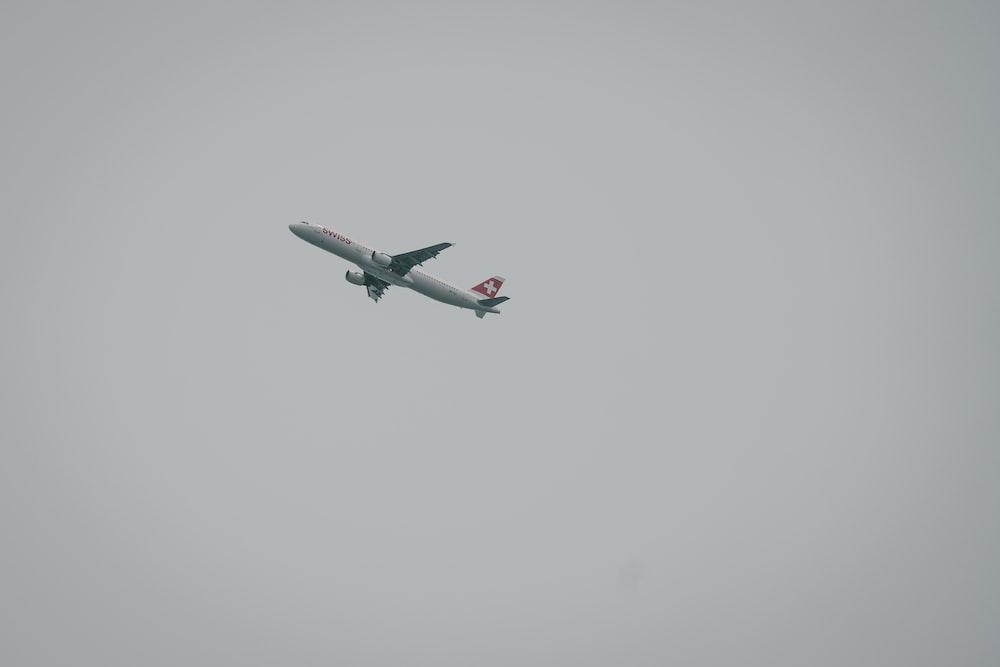 flying white plane