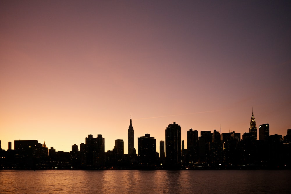 silhouette photography of cityescape