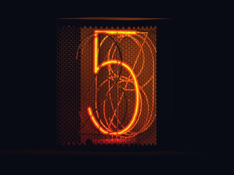lighted number 5