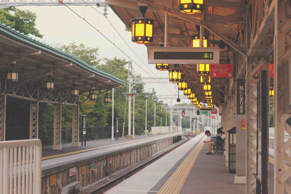 train station on focus photography