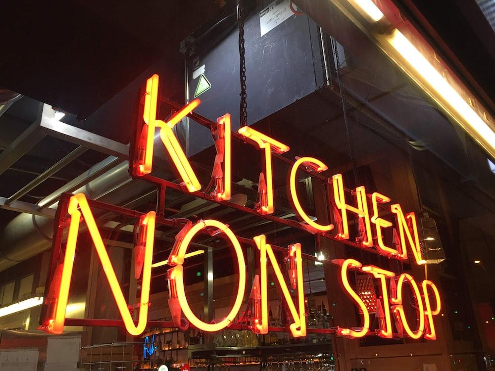 orange Kitchen Non Stop neonight