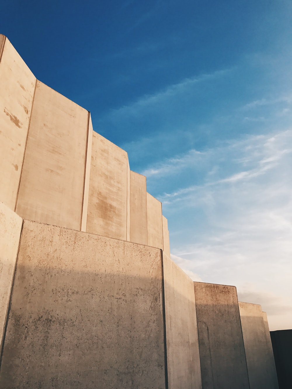 brown concrete wall