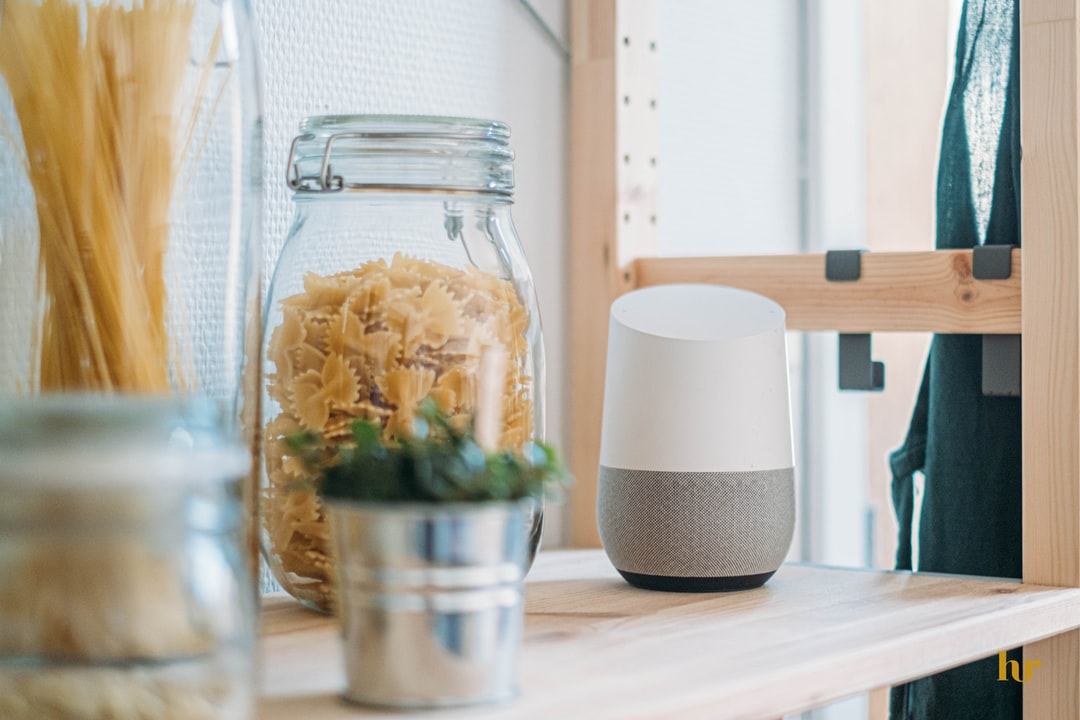 Google Home in kitchen