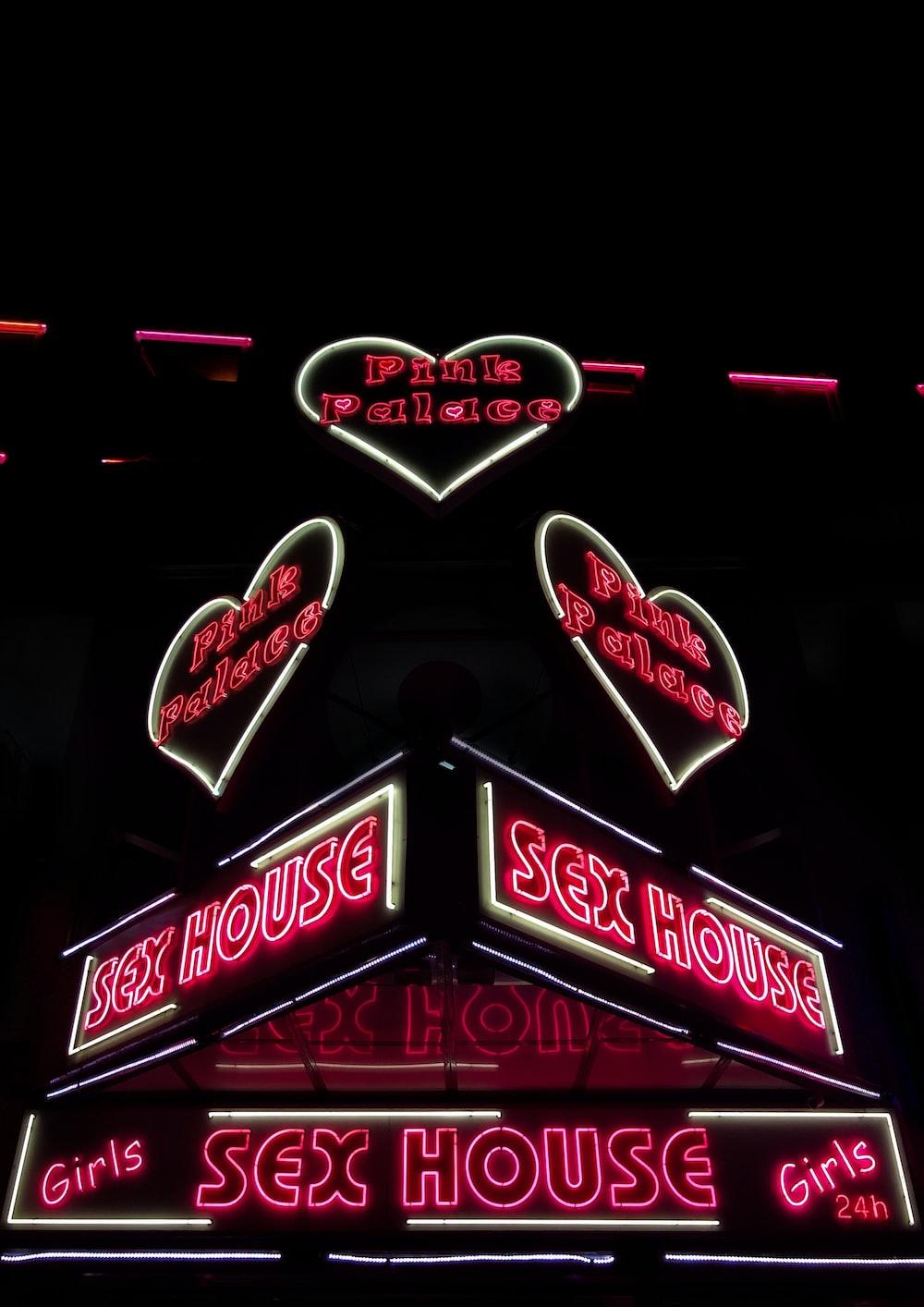 closeup photography of Sex House building