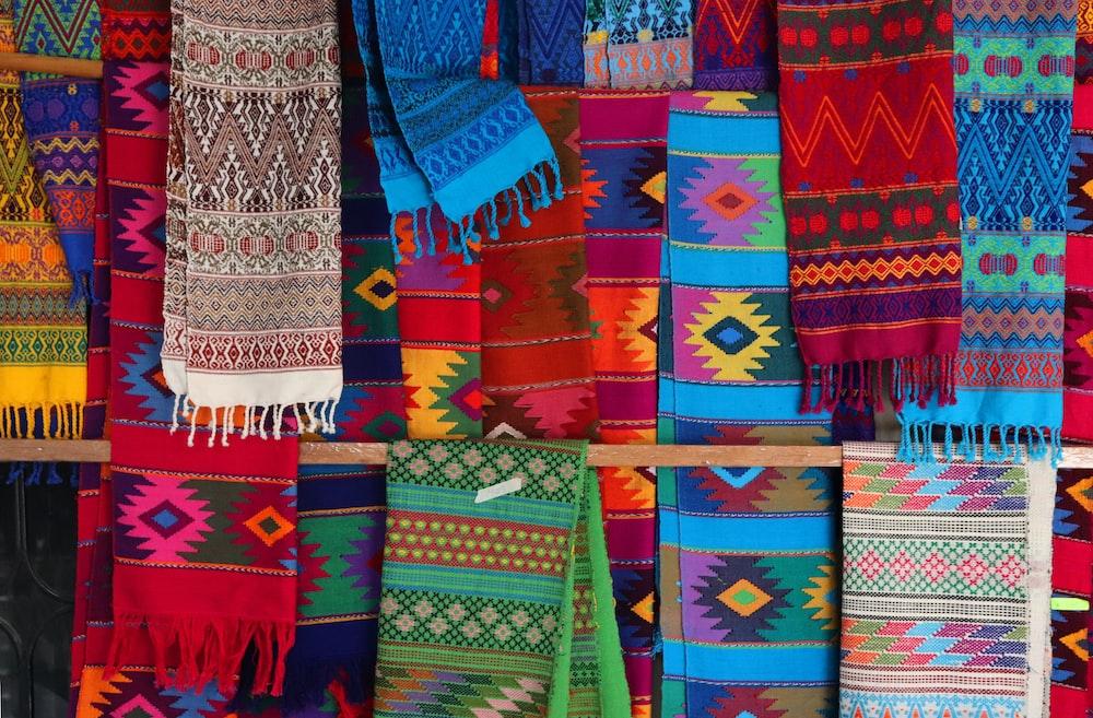 multicolored textiles lot