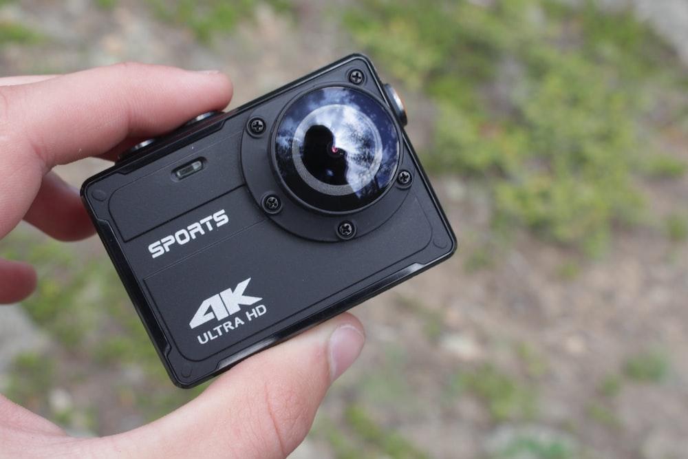 black 4K Ultra HD Sports action camera