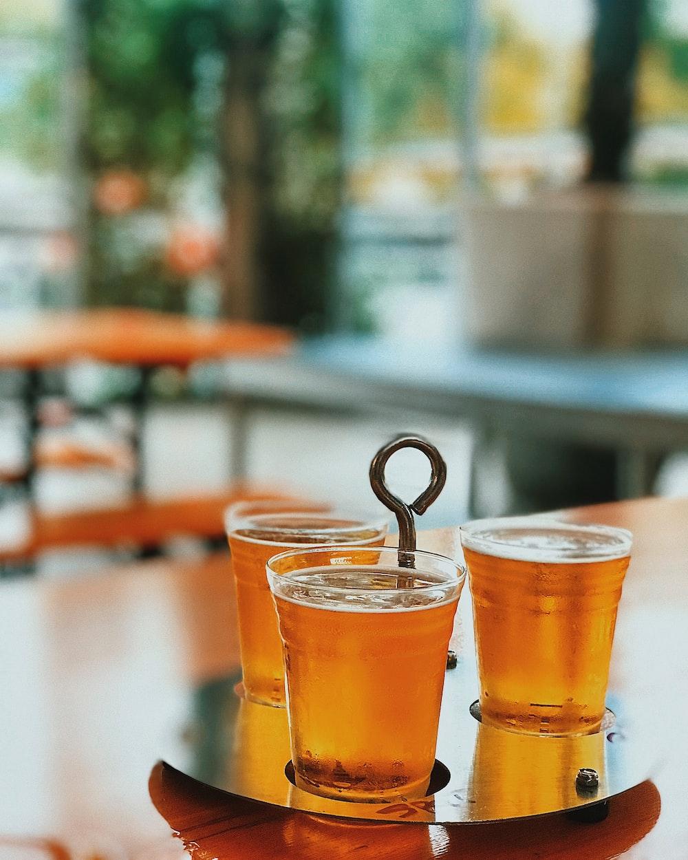 beer in three glasses