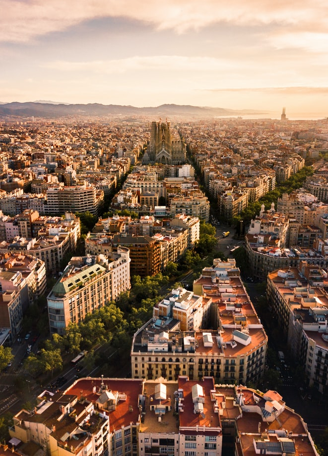Barcelona at sunrise
