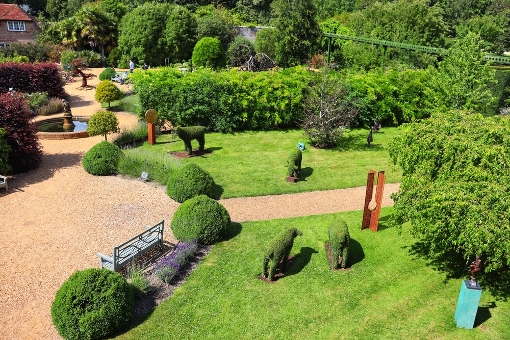 two animal topiary