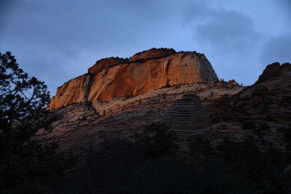 photo of brown rock mountain