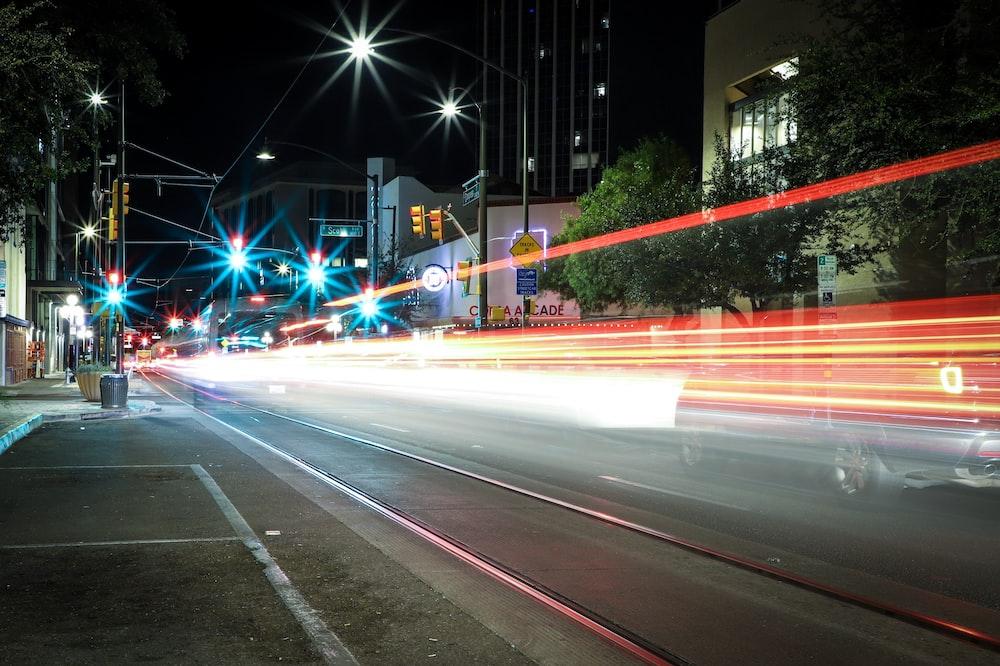 lights on road