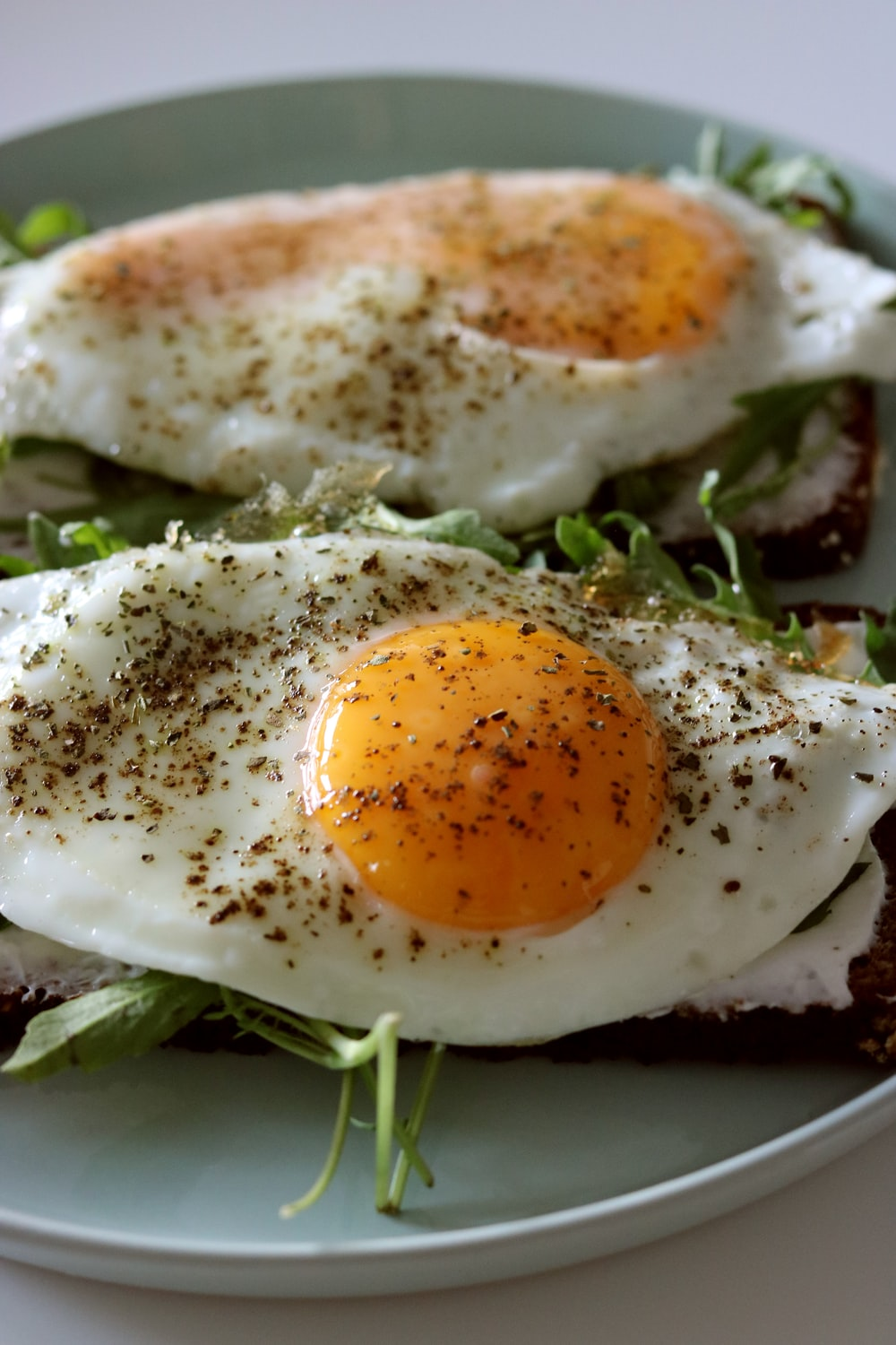 two fried eggs