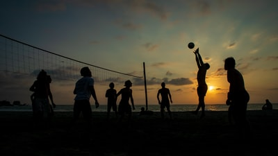 silhouette of people playing volleyball volleyball zoom background