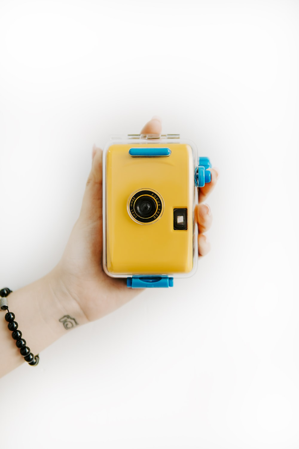 yellow and blue camera