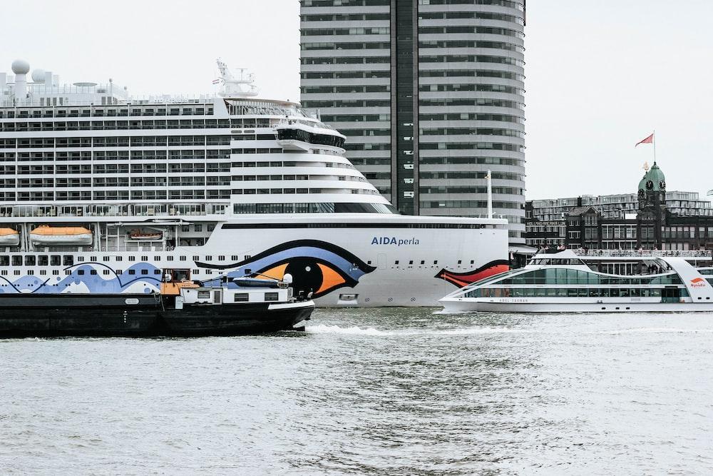 white cruise ship at water during daytime