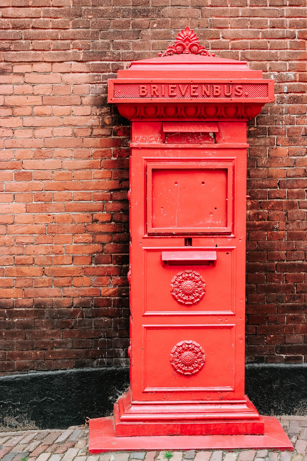red metal letter posts