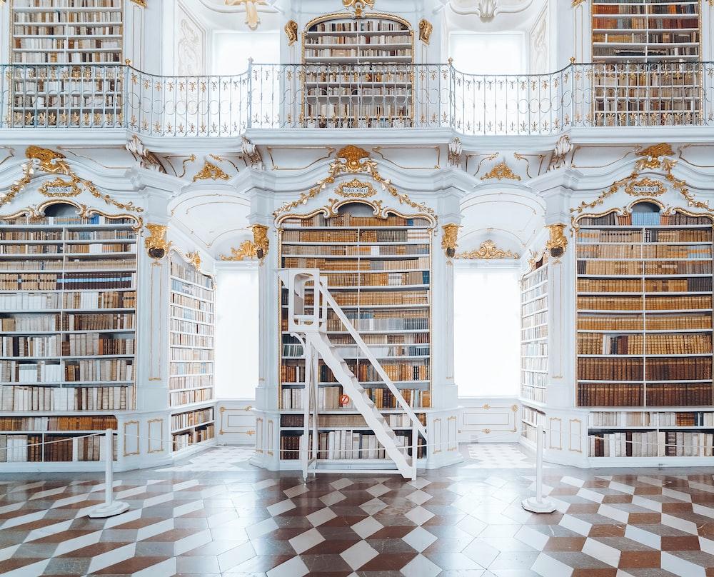 white wooden bookcase