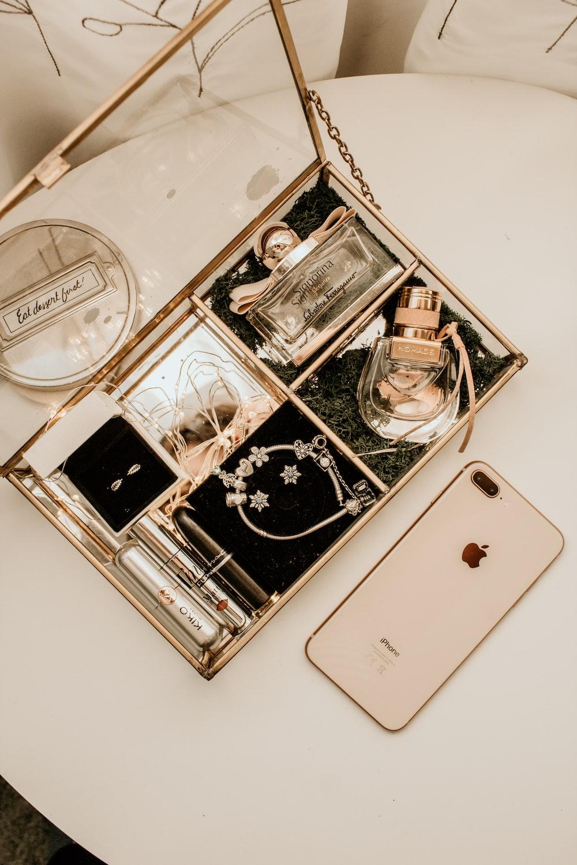 multicolored jewelries in box