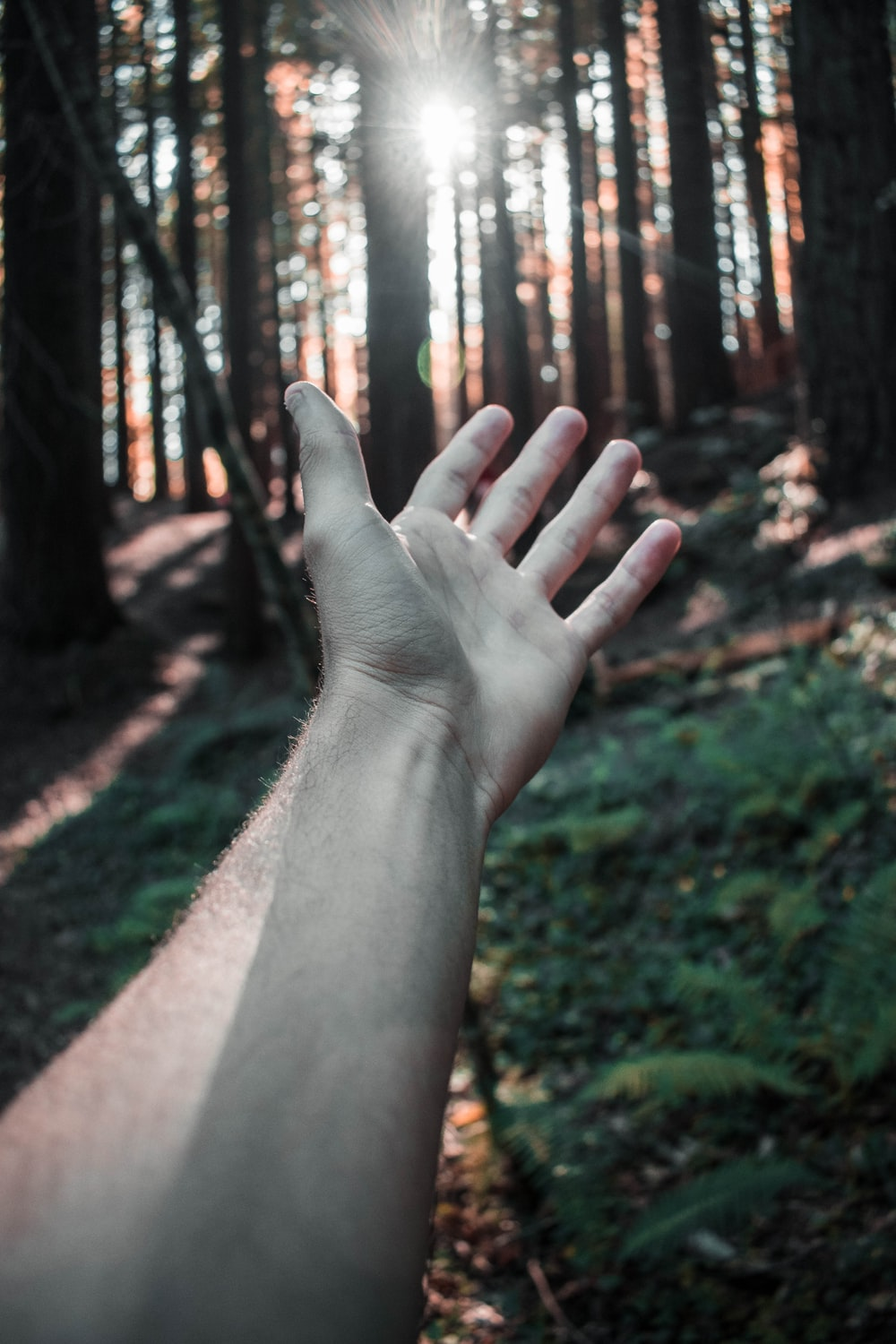 left person's hand