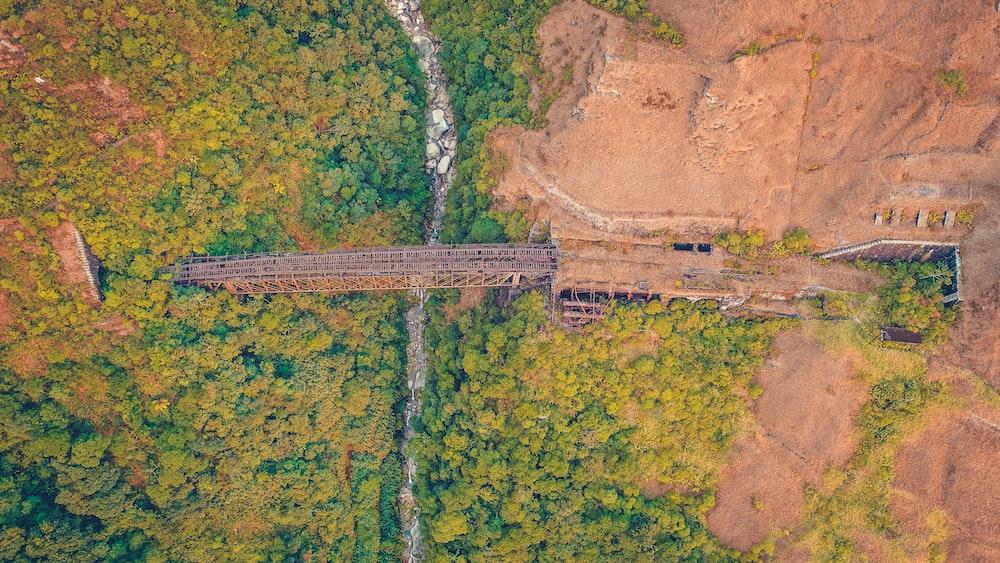 bird's eye view of a bridge