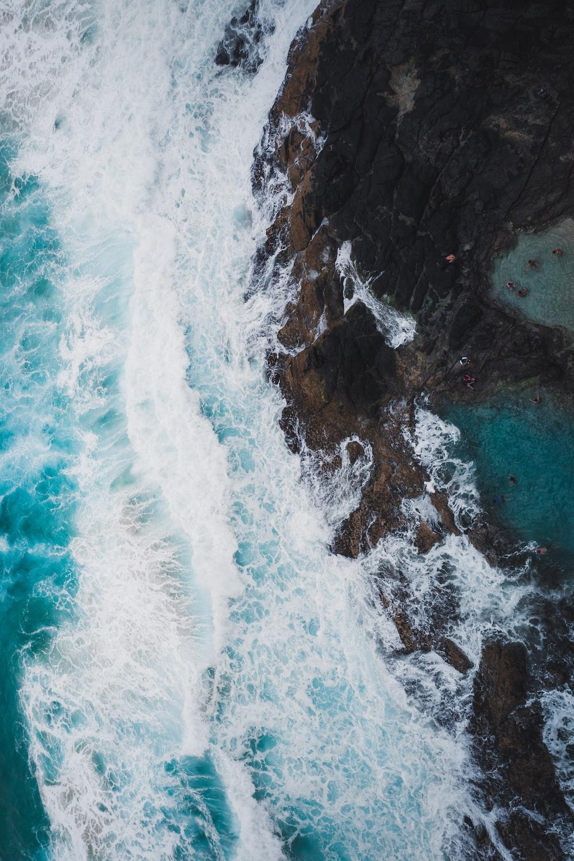 aerial ocean waves