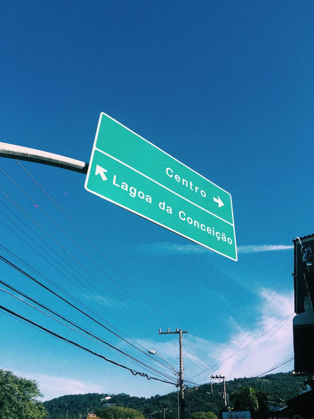 Centro Lagoa da Conceicao signage