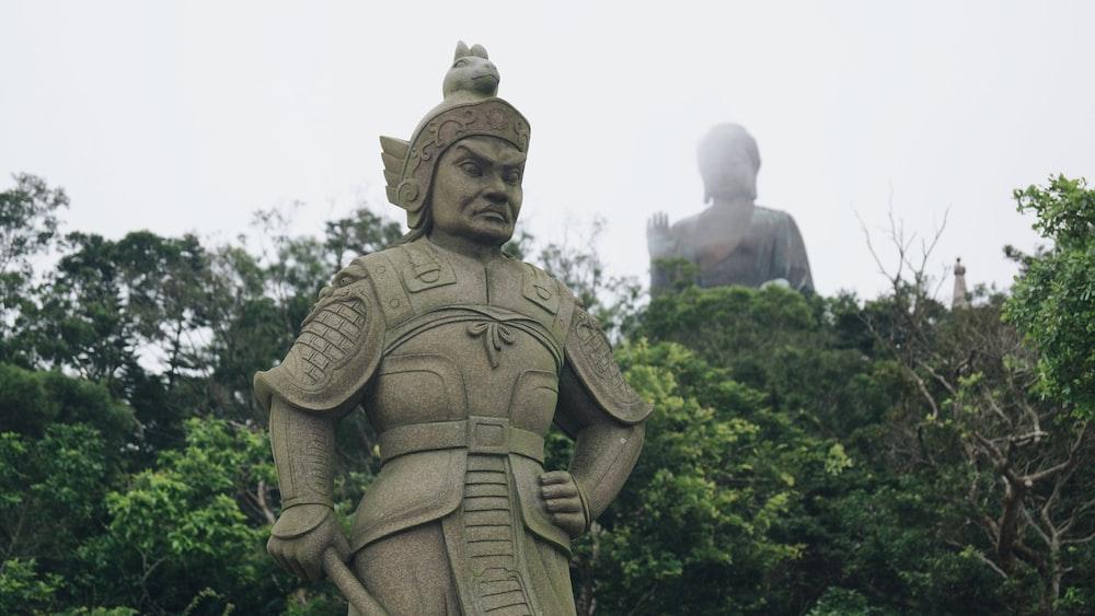 concrete man statue