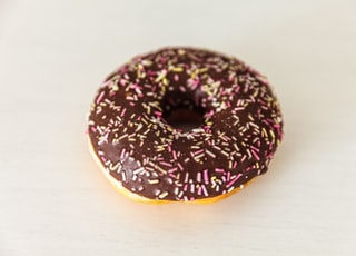 chocolate coated donut