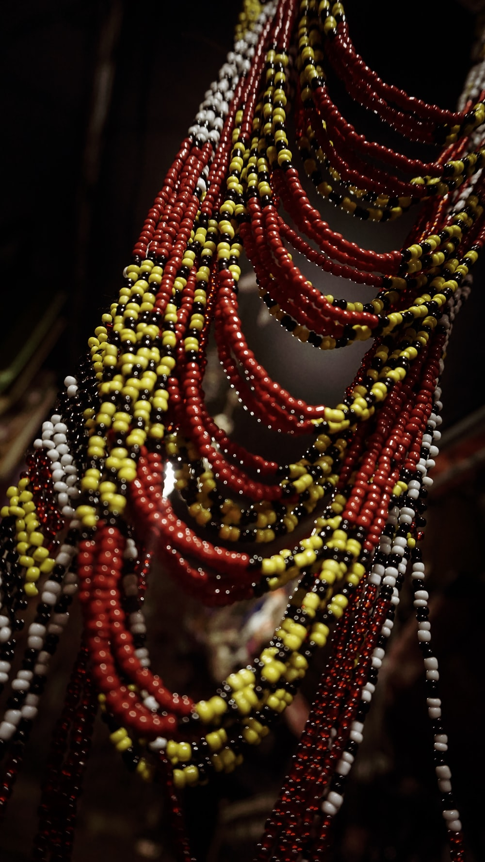 beaded red and yellow accessories