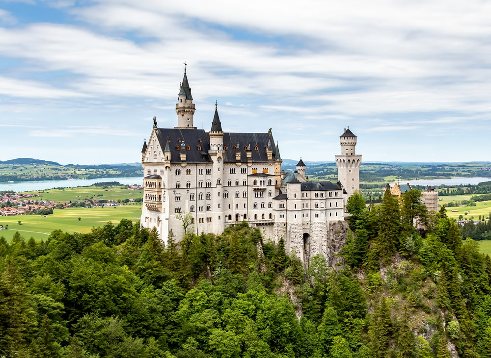 white and beige castle