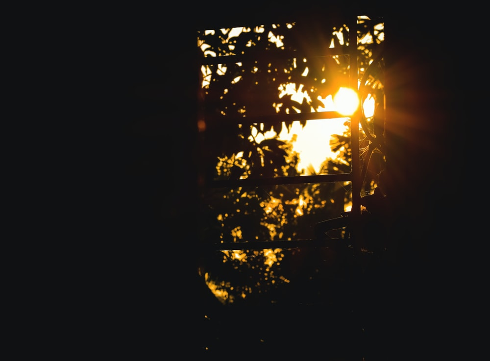 orange setting sun