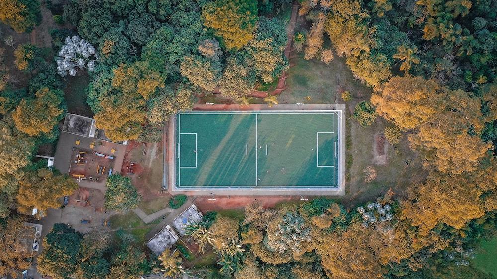green basketball court