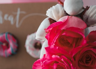 faux pink rose bouquet