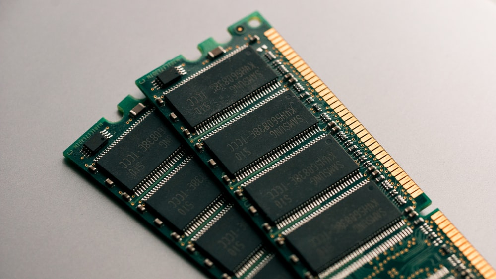 green circuit board close-up photography