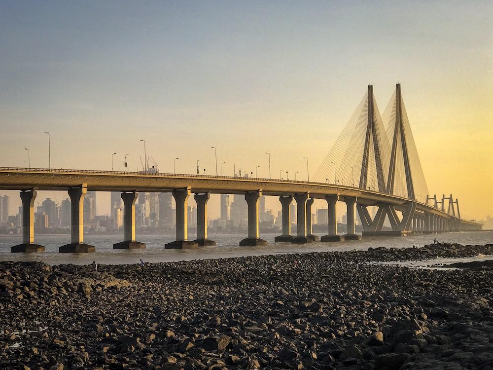 brown bridge during golden hour