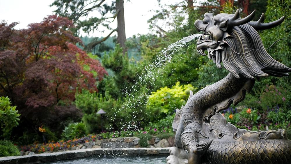 black dragon fountain