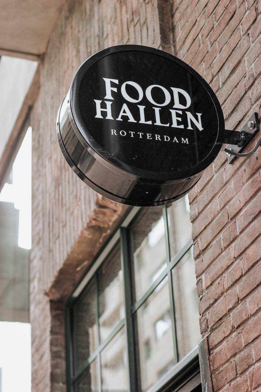 black Food Hallen signage