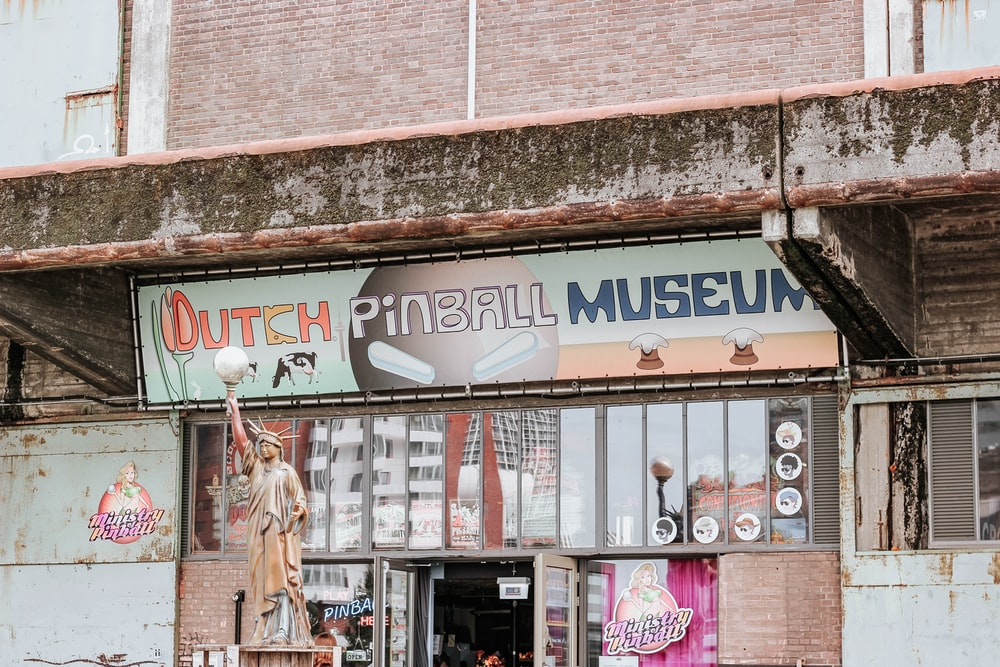 Dutch pinball museum sign