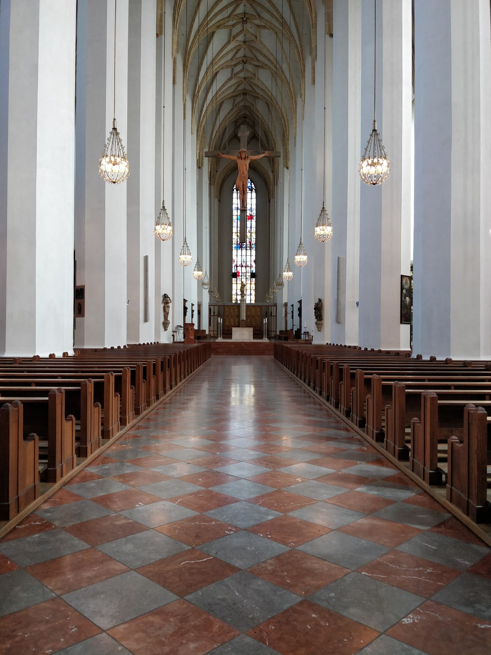 white cathedral interior