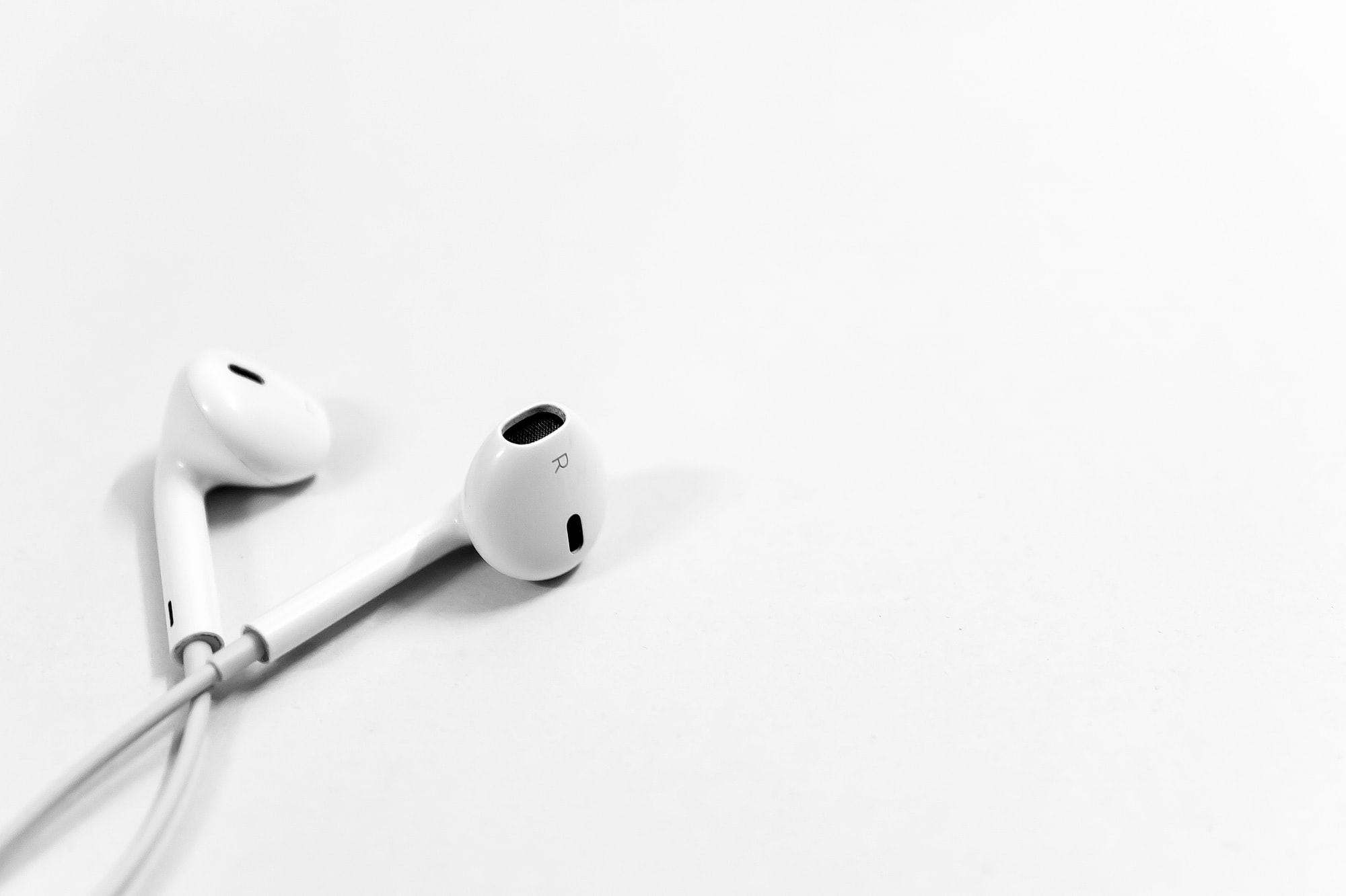 Stock Photo of Apple earphones by rupixen