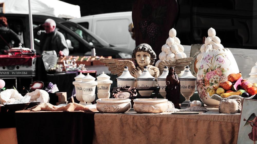 jars on table