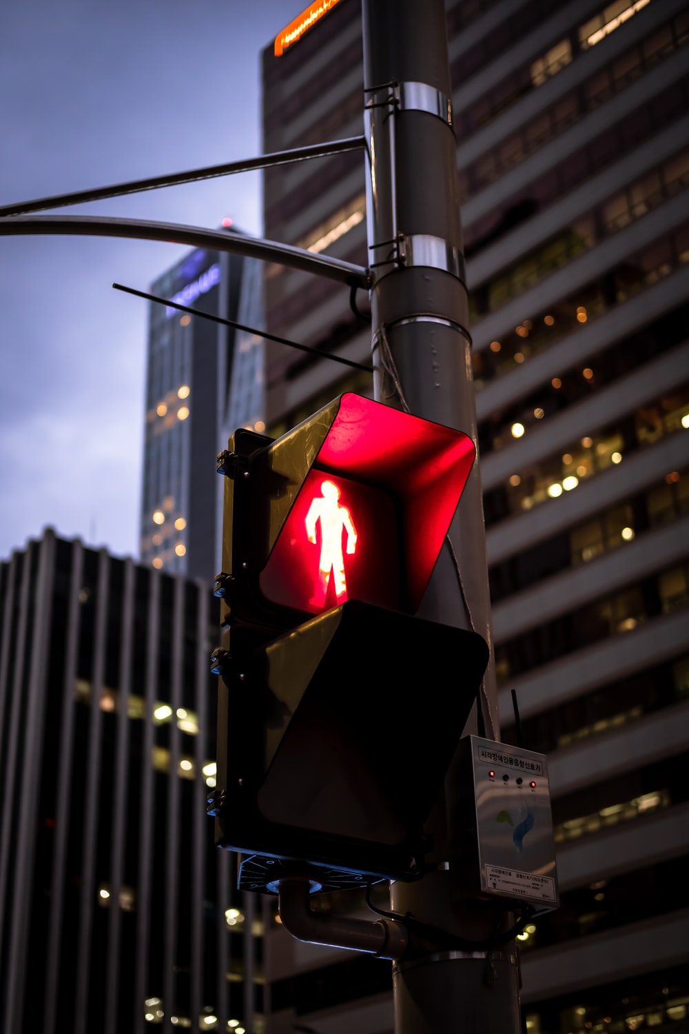 traffic light turned-on at red