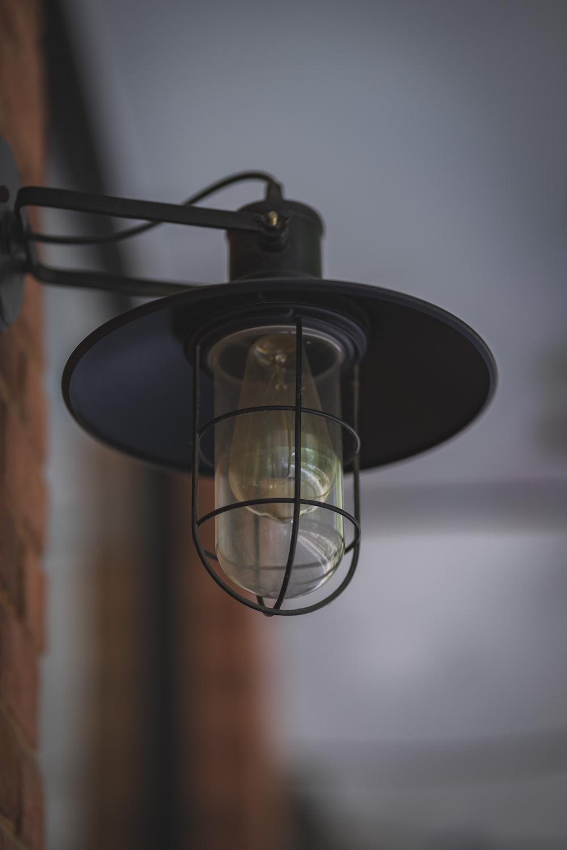 turned-off light fixture