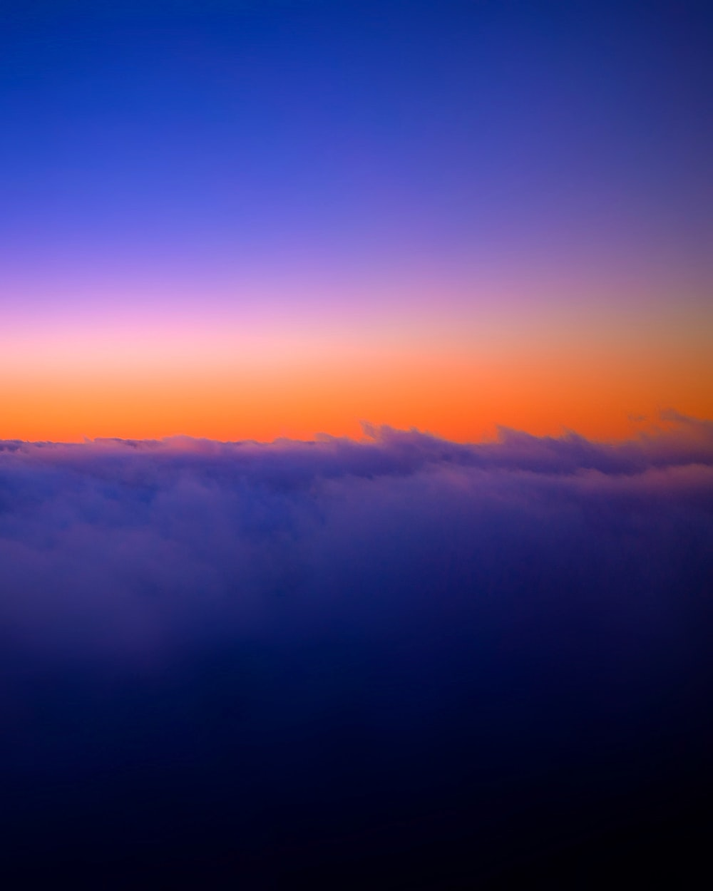purple clouds photo