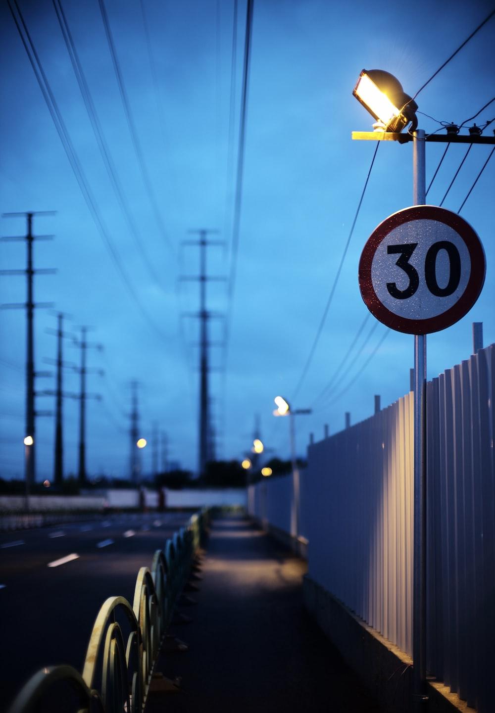 30 traffic signage