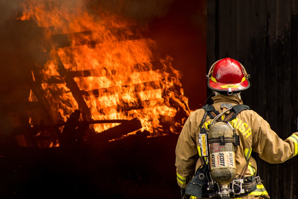 fireman looking at fire