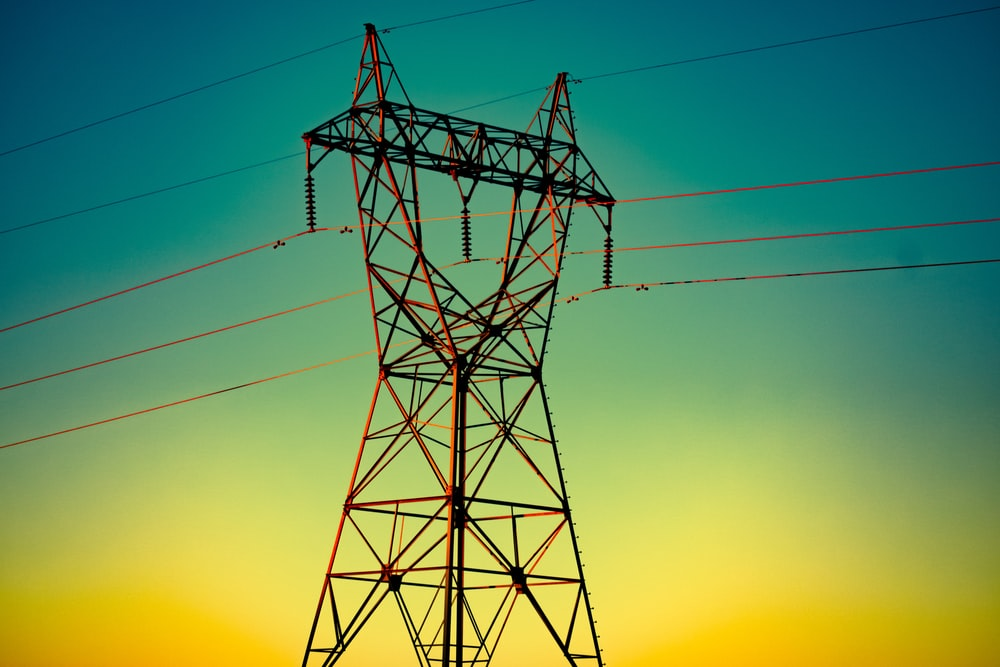electric cable wire during golden hour