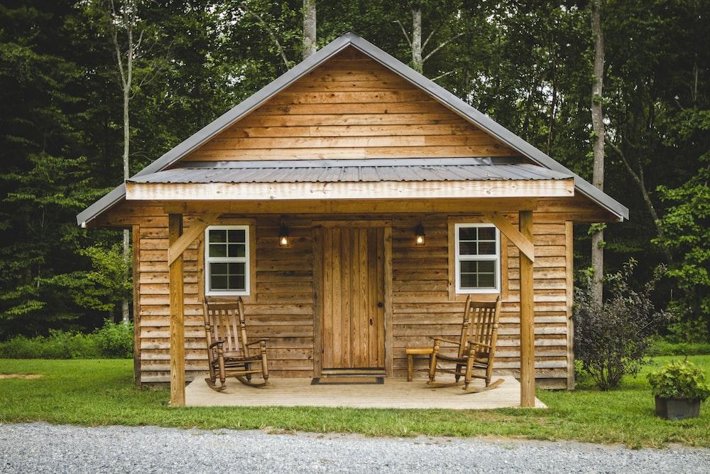 closed cabin door